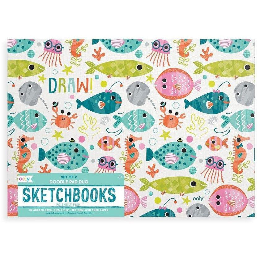 Ooly Doodle Pad Duo Sketchbooks: Friendly Fish