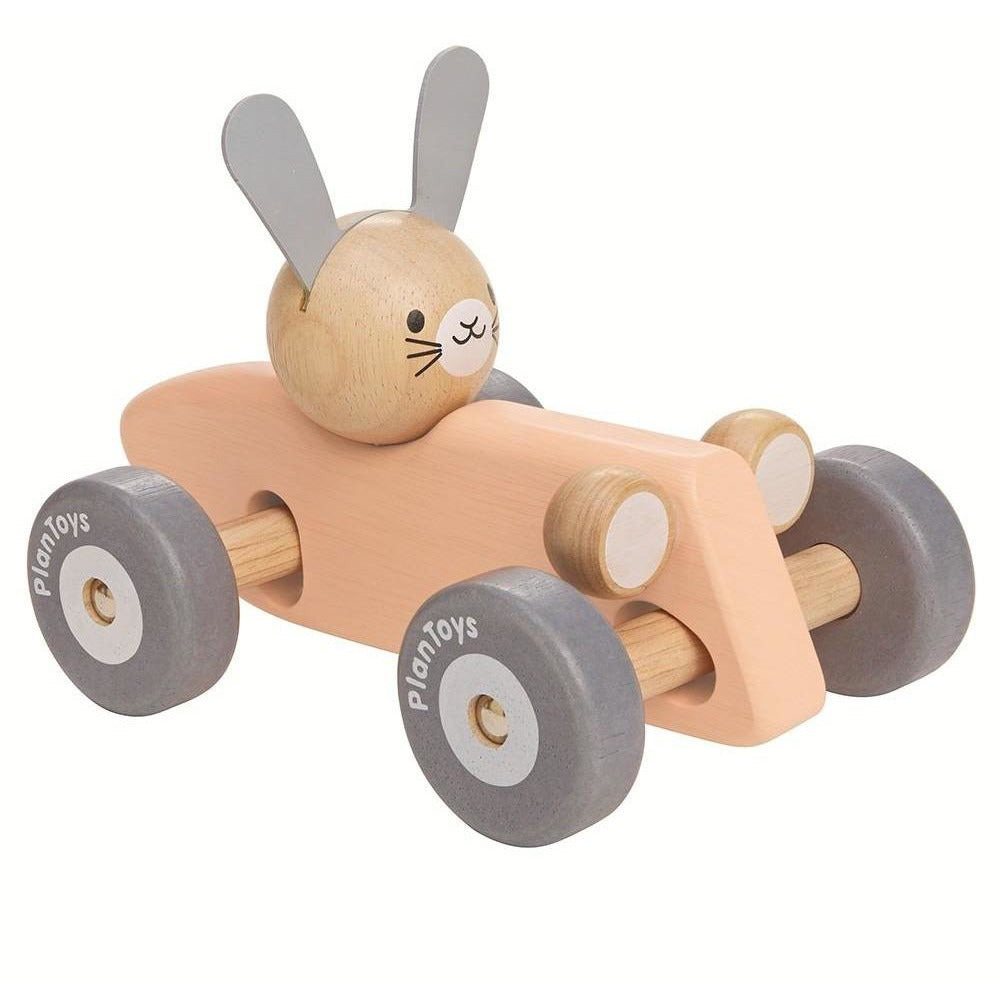 Plan Toys Bunny Racing Car- Pastel