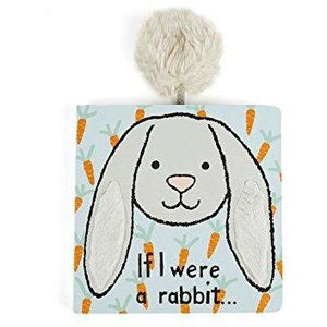 Jellycat - If I were a Rabbit (grey) Book