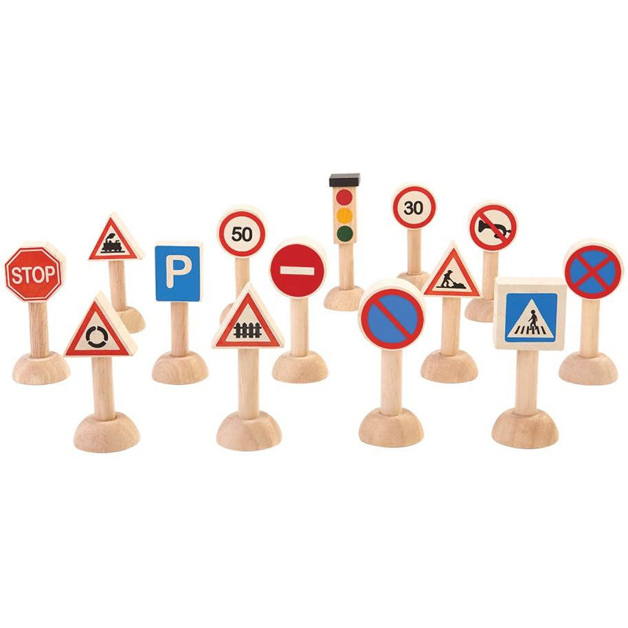 Plan Toys Set of Traffic Signs & Lights