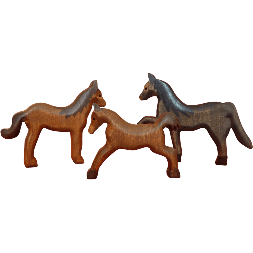 Forest Melody Wooden Horse Set