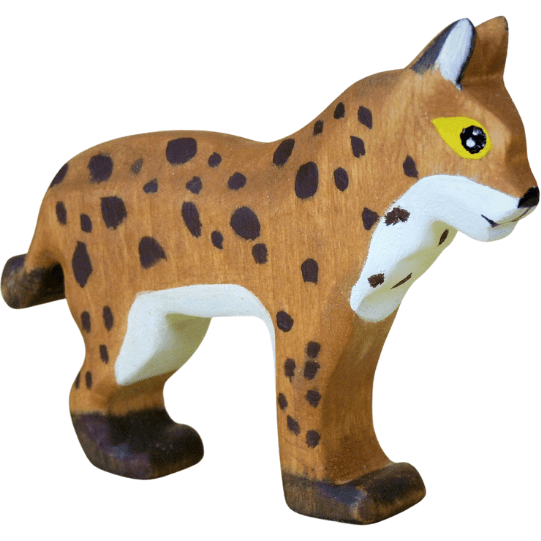 Forest Melody Wooden Lynx