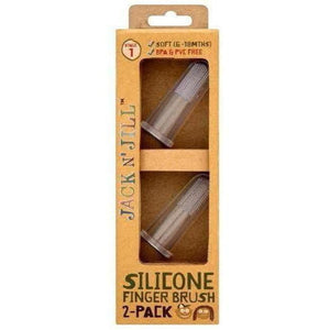 Jack N' Jill Silicone Finger Brush (2-pack) - Stage 1
