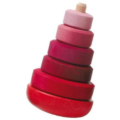 Grimm's Wobbly Stacking Tower- Pink