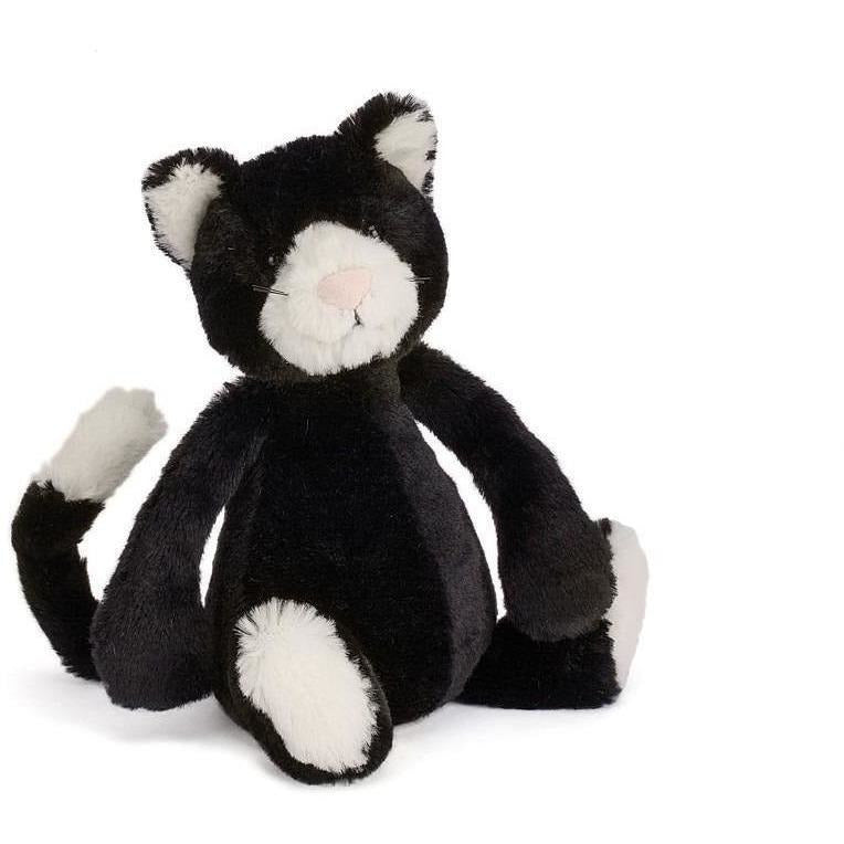Jellycat Bashful Black & White Kitten - Small