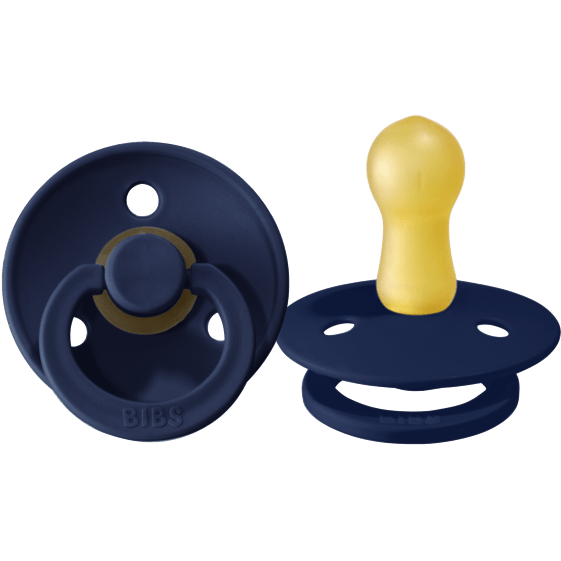 BIBS USA- Natural Rubber Pacifier 2 Pack -Deep Space