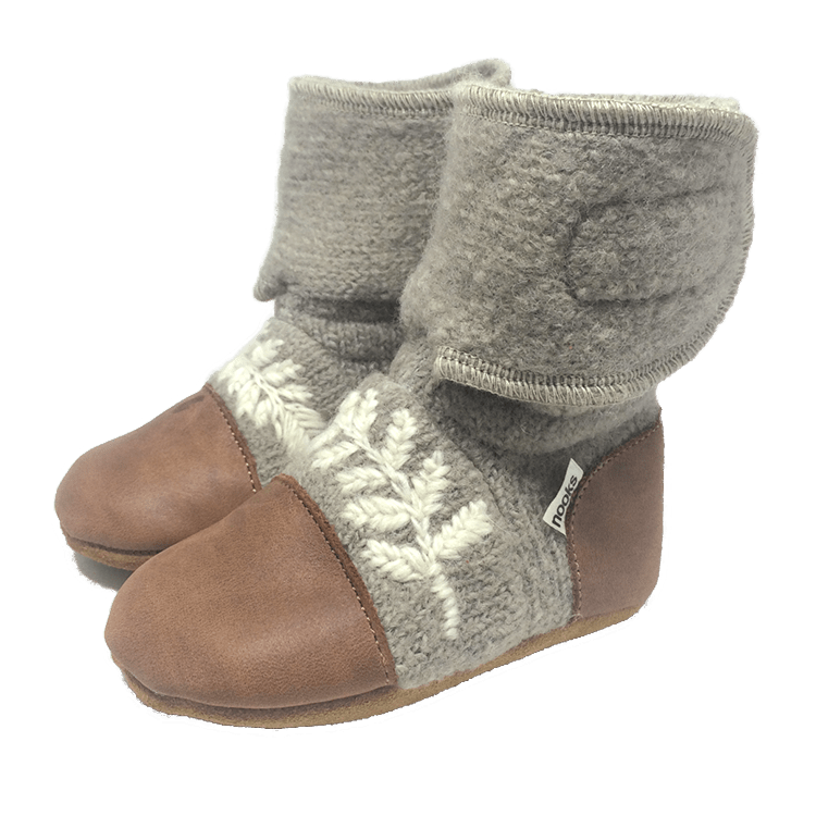 Nooks Dove Felted Wool Booties