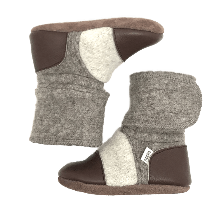 Nooks Coco Felted Wool Booties