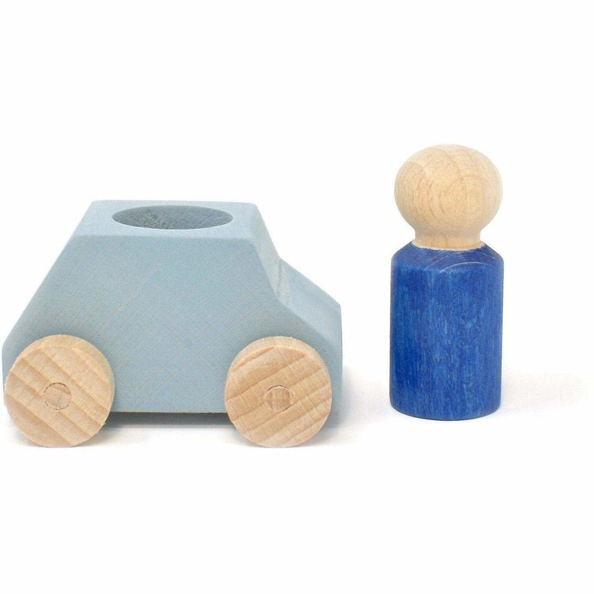 Lubulona Gray Wooden Toy Car