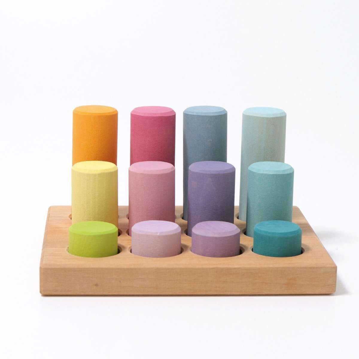 Grimm's Stacking Game Small Rollers Pastel