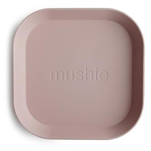 Mushie Square Dinnerware Plates, Set of 2