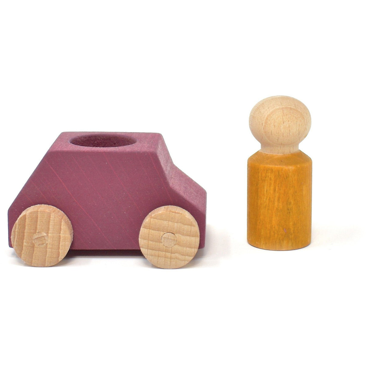 Lubulona Plum Wooden Toy Car