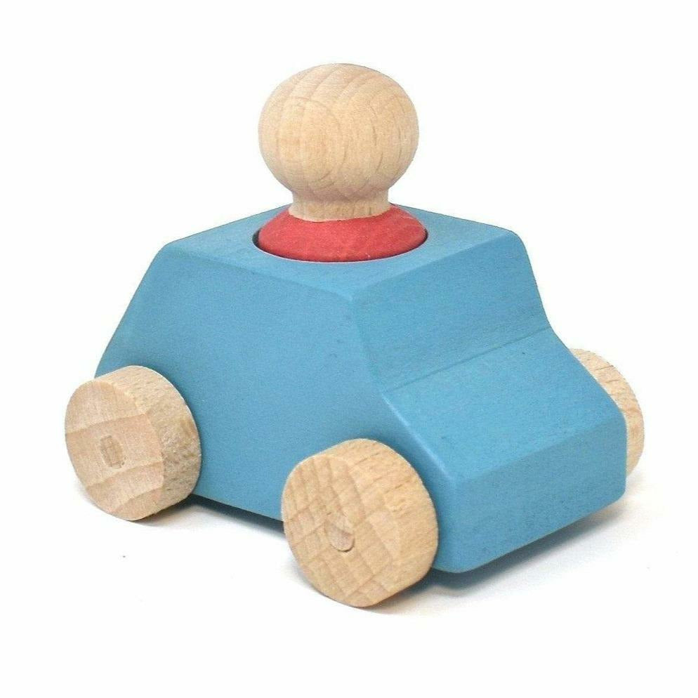 Lubulona Sky Blue Wooden Toy Car