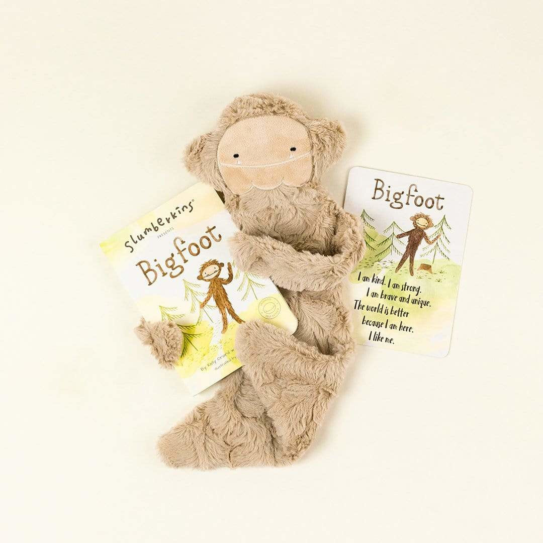 Slumberkins Bigfoot Snuggler Bundle- Sunkissed