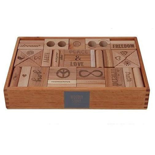 Wooden Story - Peace & Love Blocks XL (72 pieces)