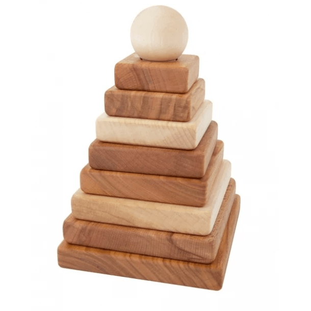 Wooden Story - Natural Pyramid Stacking Toy