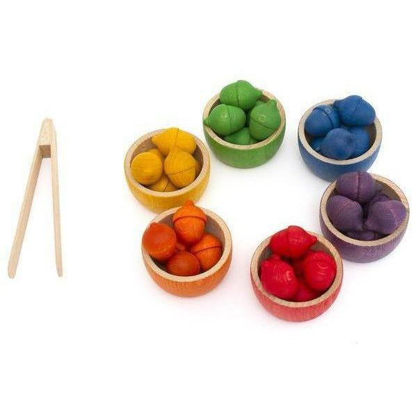 Grapat Bowls & Acorns Sorting Game
