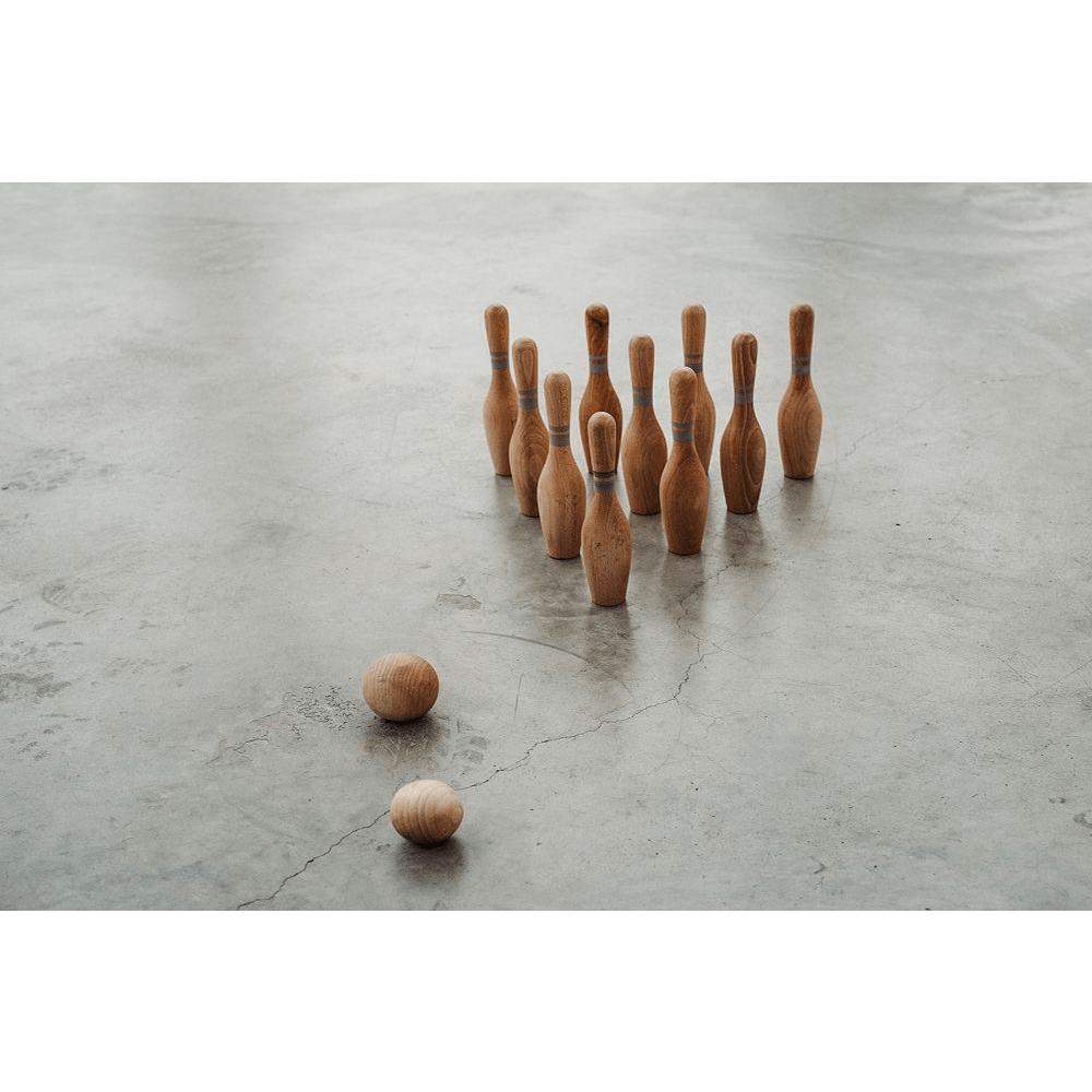 Wooden Story - Natural Bowling Set 10 Pieces