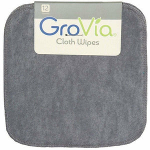 GroVia Reusable Cloth Diaper Wipes- Cloud