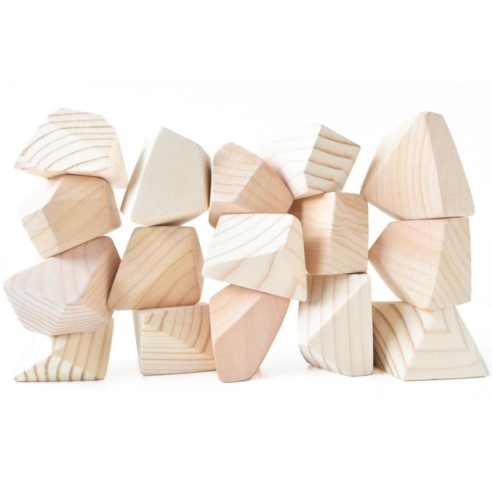 Rock Blocks- 16 Piece Set: Natural