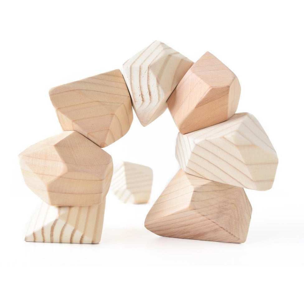 Rock Blocks- 8 Piece Set: Natural
