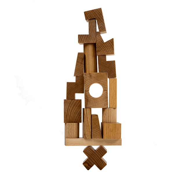 Wooden Story - Natural Stacking Tower