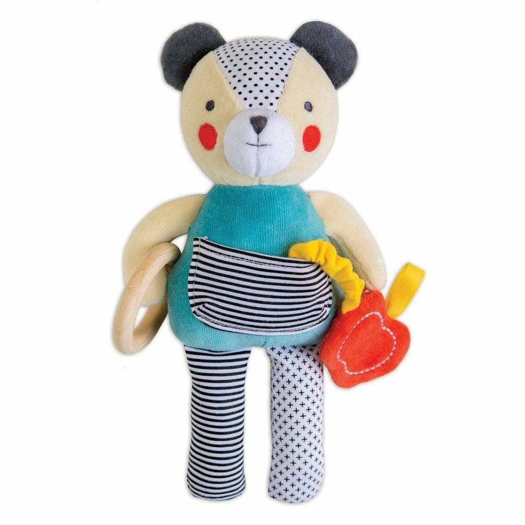 PetitCollage Busy Bear Organic Baby Activity Toy