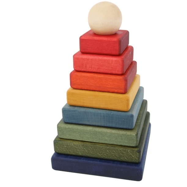 Wooden Story - Rainbow Pyramid Stacking Toy