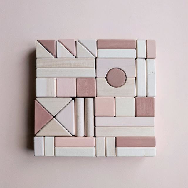 Sabo Castle Building Blocks Light Pink