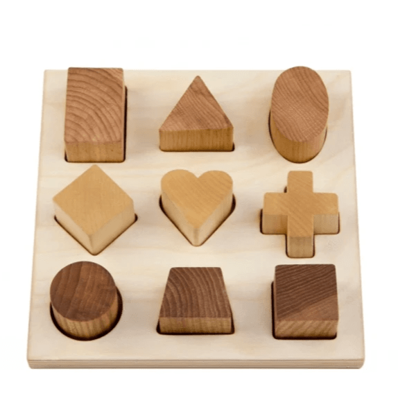 Wooden Story - Natural Shape Puzzle Board