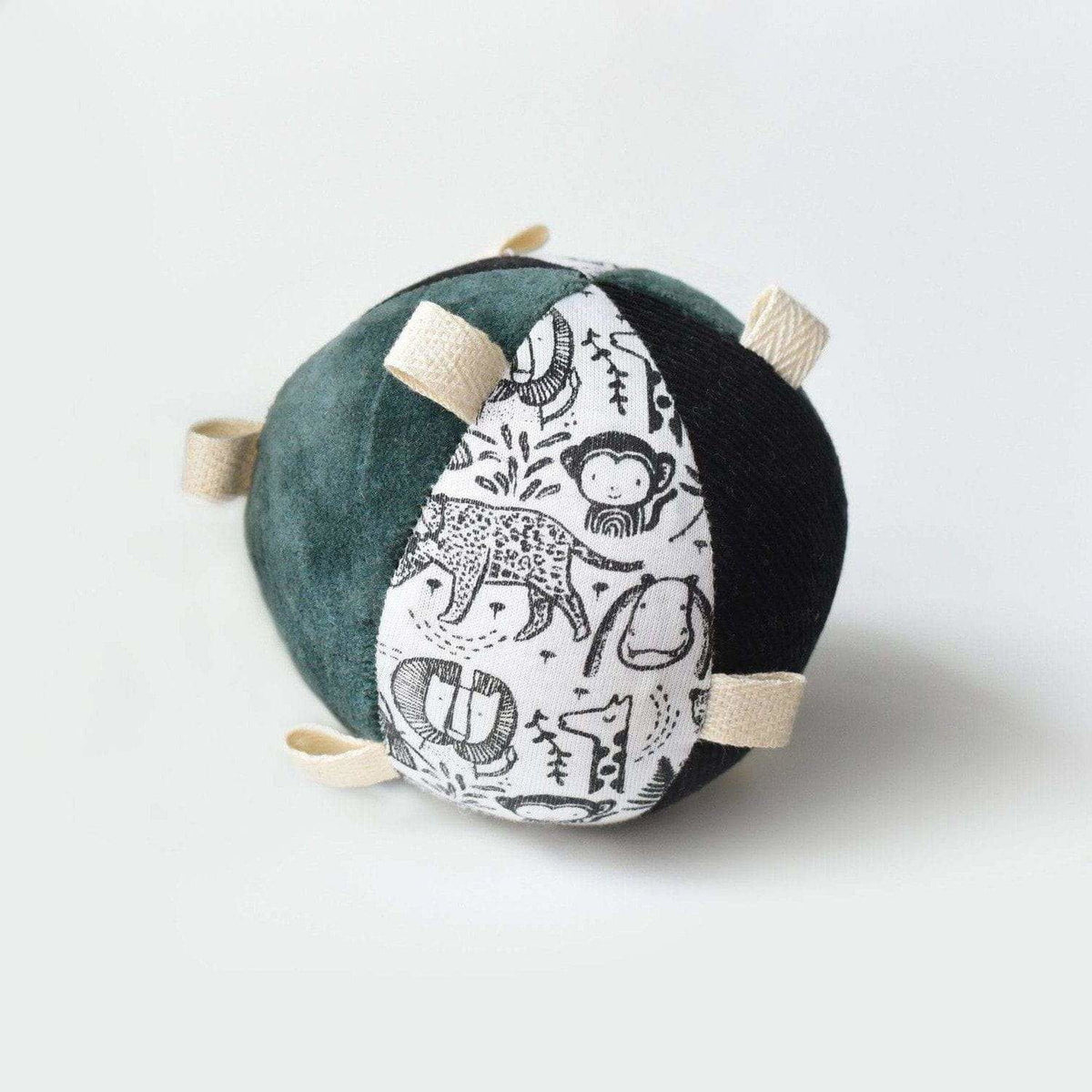 Wee Gallery Taggy Ball w/Rattle: Wild