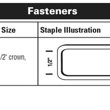 "16 GAUGE S4 SERIES STAPLER, 1/2"" CROWN X 1"" - 2"" LEG"