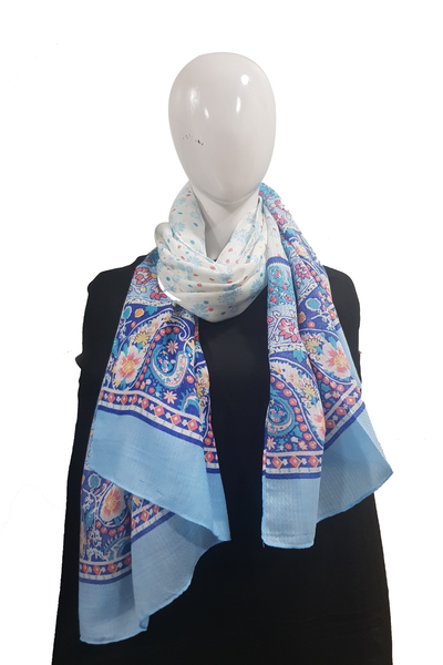 Bright Multimix Collection Sky Blue Hijab
