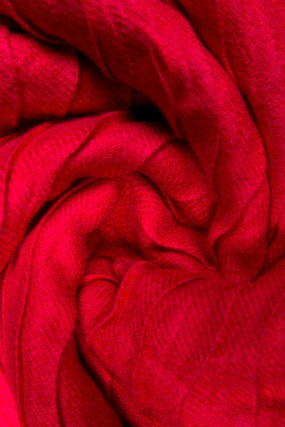 Rayon Pleat Wrap Candy Red Hijab