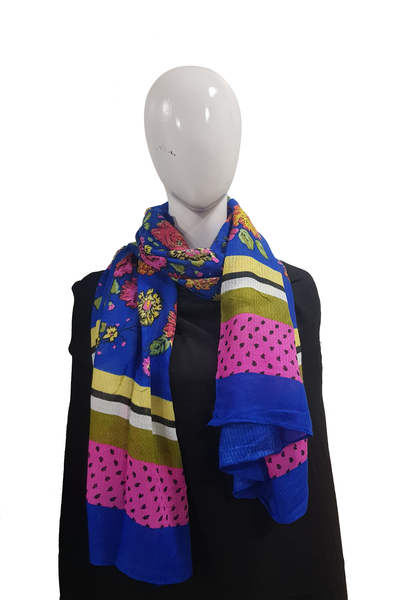 Bright Multimix Collection Royal Blue Hijab