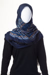 Geometric Collection Mid Navy Hijab