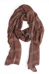 Plaid Chocolate Brown Hijab