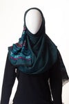 Geometric Collection Mid Green Hijab