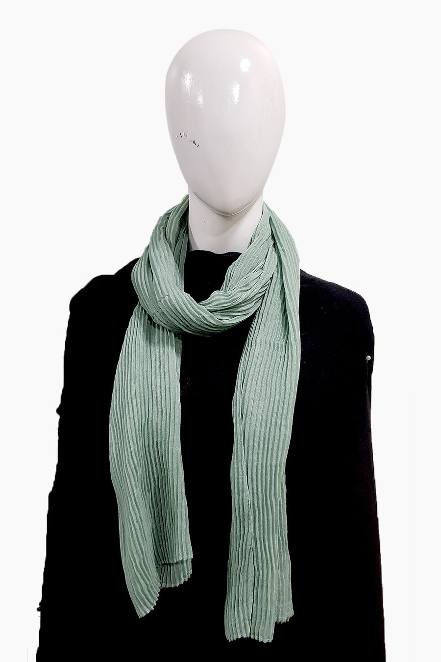 Matcha Purely Pleated Viscose Hijab