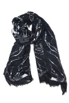 Turkish Printed Lawn Thunder Black Hijab