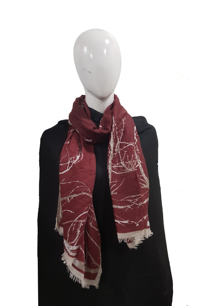 Turkish Printed Lawn Maroon Hijab