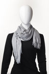Semi Viscose Linen Grey Hijab