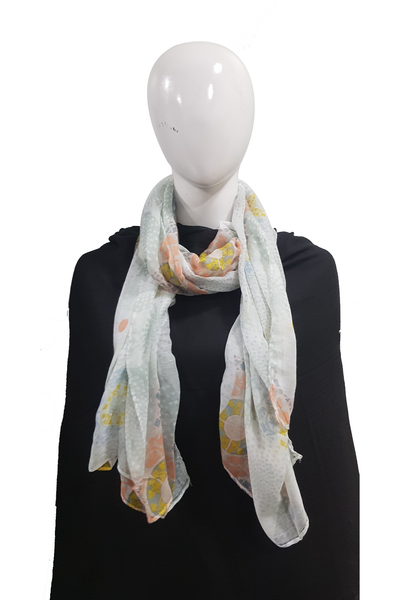 Soft color casuals faded green pattern