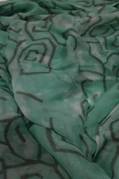 Soft color casuals sea green patches