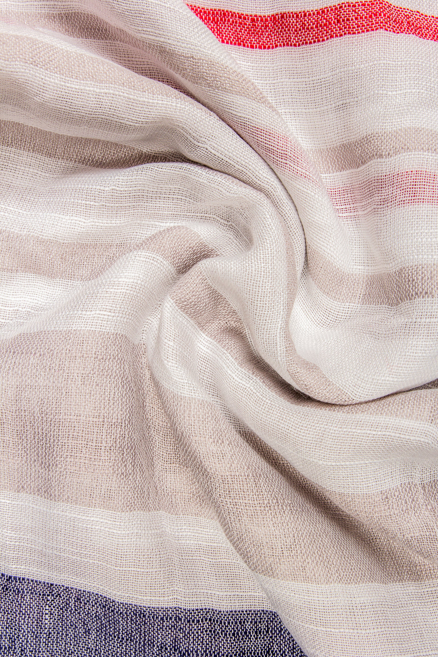 Stripy Viscose Collection White and Taupe Hijab