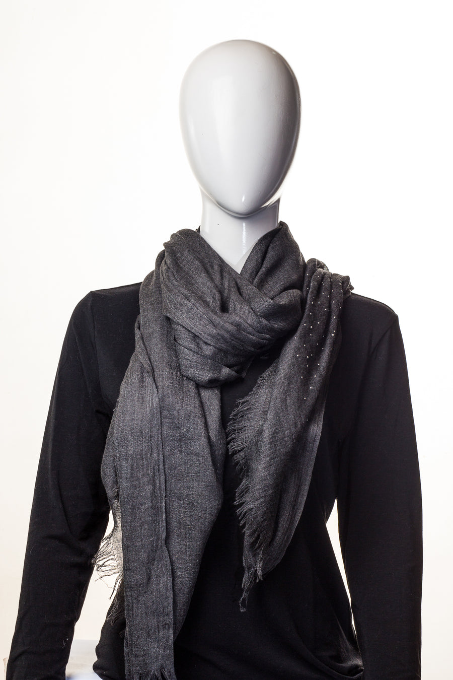Sparking Viscose Charcoal Grey Hijab
