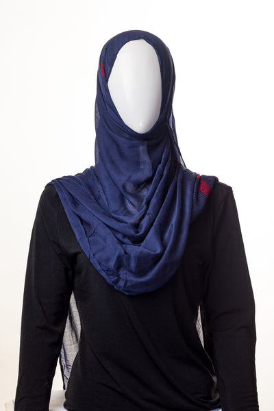 Pure Cotton Collection Space Blue Hijab