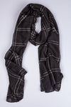 Plaid Jade Black Hijab