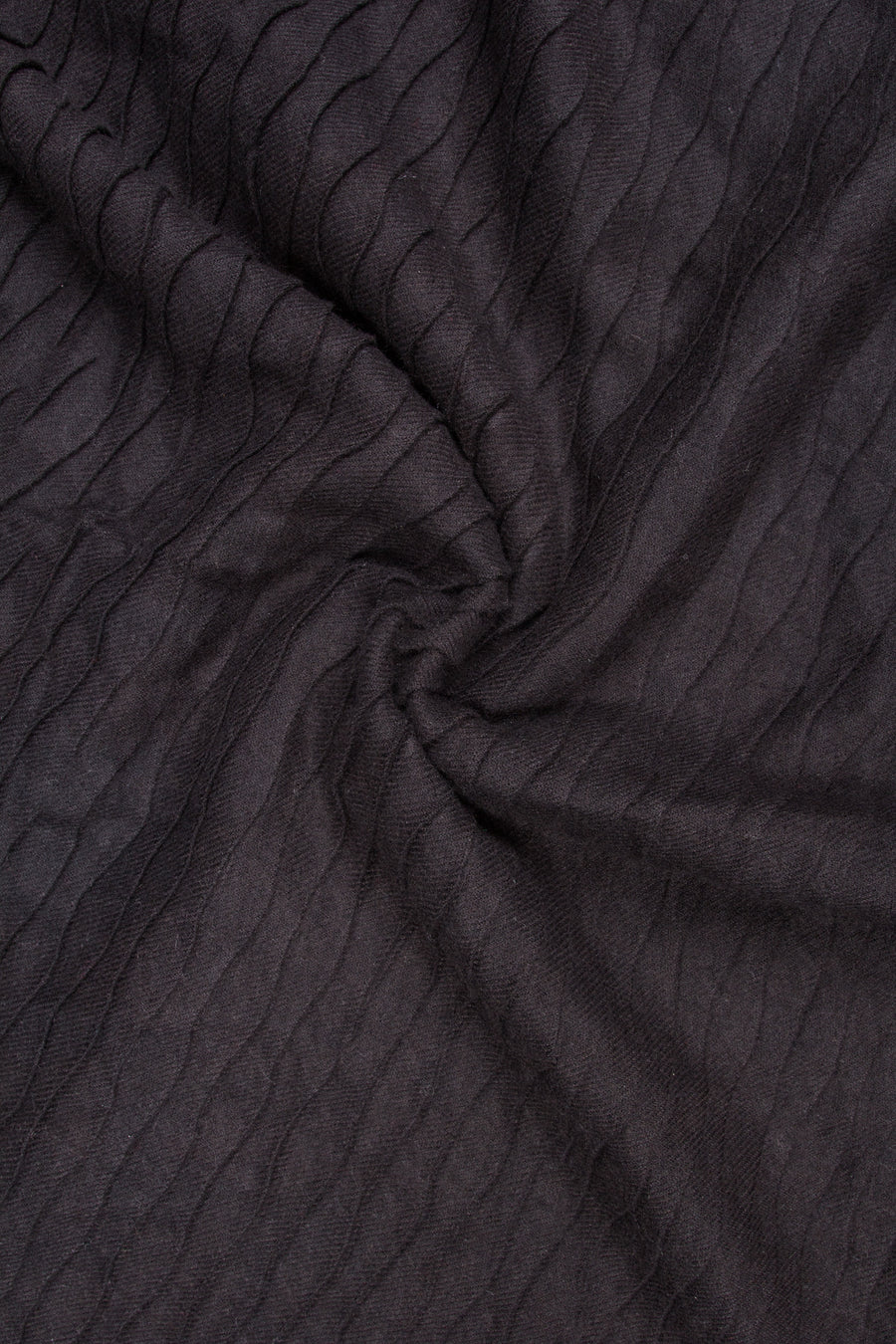 Rayon Pleat WrapJet Black Hijab