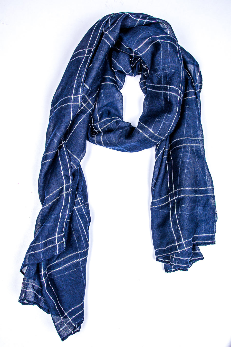 Plaid Space Blue Hijab